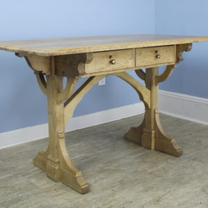 Antique Gothic Oak Desk