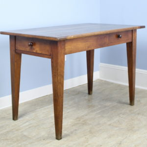 Antique Two-Drawer Cherry Writing Table