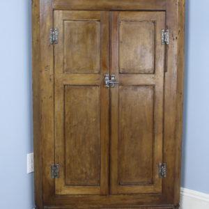 Antique English Pine Corner Cupboard