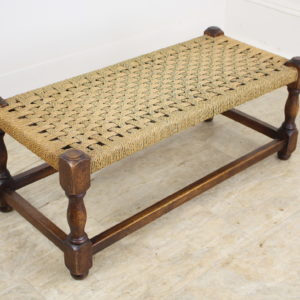Antique English Oak String Stool