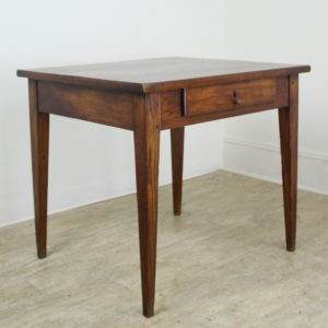 Small Elm Side Table with Thick Top