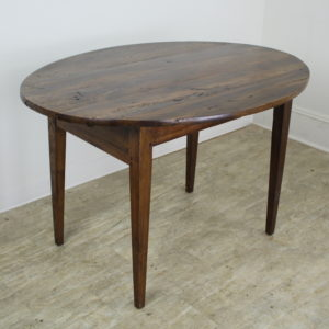 Antique Oval Walnut Occasional Table with One Drawer