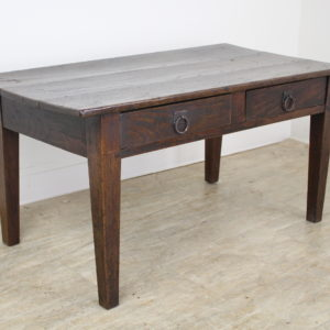 Antique Dark Chestnut Two-Drawer Coffee Table