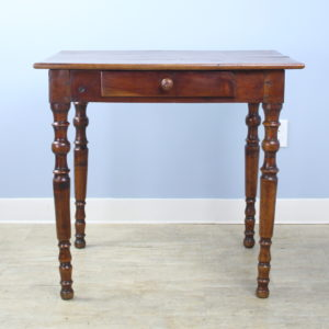 Antique Ash Side Table with Turned Legs