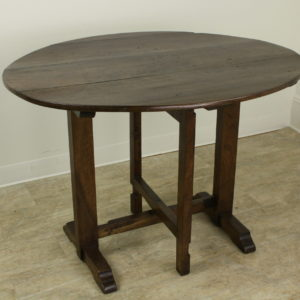 Antique French Oval Walnut Wine Table