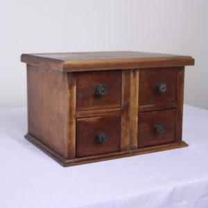 Four-Drawer English Oak Box