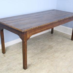 Antique Chestnut Farm Table with Decorative Edge
