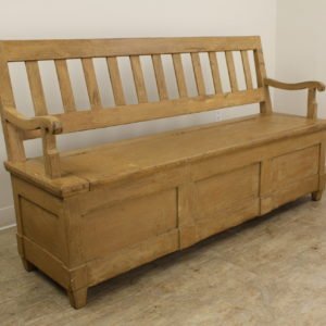 Antique Painted Mixed Wood Settle