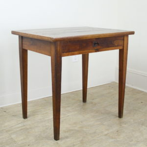 Antique Walnut Side Table with Framed Top