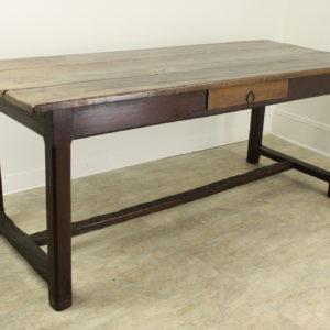 Antique Cherry Farm Table on a Trestle Base