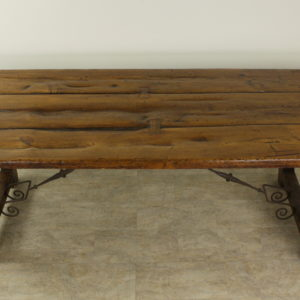 Antique Spanish Refectory Table, Original Irons