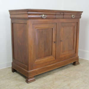 Louis Philippe Walnut Buffet with Silver Plate Handles