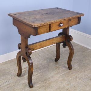 Early Italian Walnut Lamp or Side Table