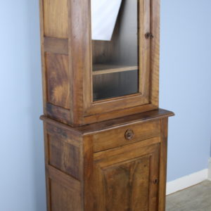 Antique French Walnut Vitrine or Cupboard