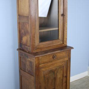 Antique French Walnut Vitrine or Cupboard