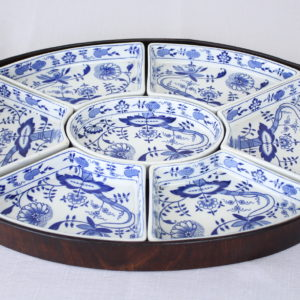 """Booths 7 Piece """"Onion"""" Hors D'Oeuvres Tray"""