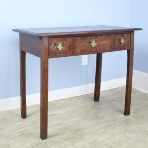 Georgian Side Table/Small Desk, Cherry Cross Banding