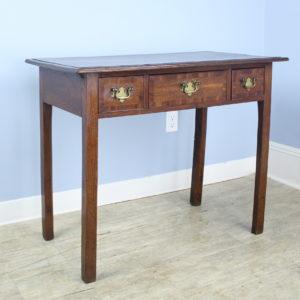 Georgian Side Table/Small Desk, Cherry Cross Banding
