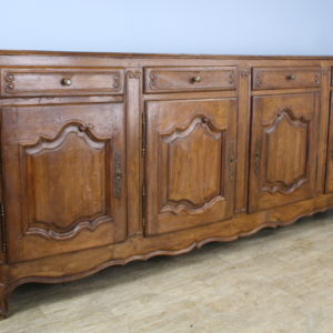 Antique French Chestnut Four Door Enfilade