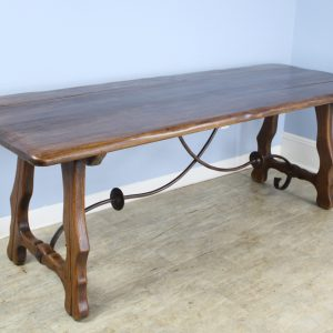 Spanish Iron Based Oak Farm Table