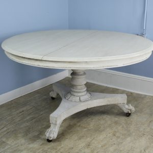 Antique Dutch Tilt Top Pedestal Table with Lion's Feet