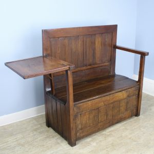 Antique French Cherry and Chestnut Seat