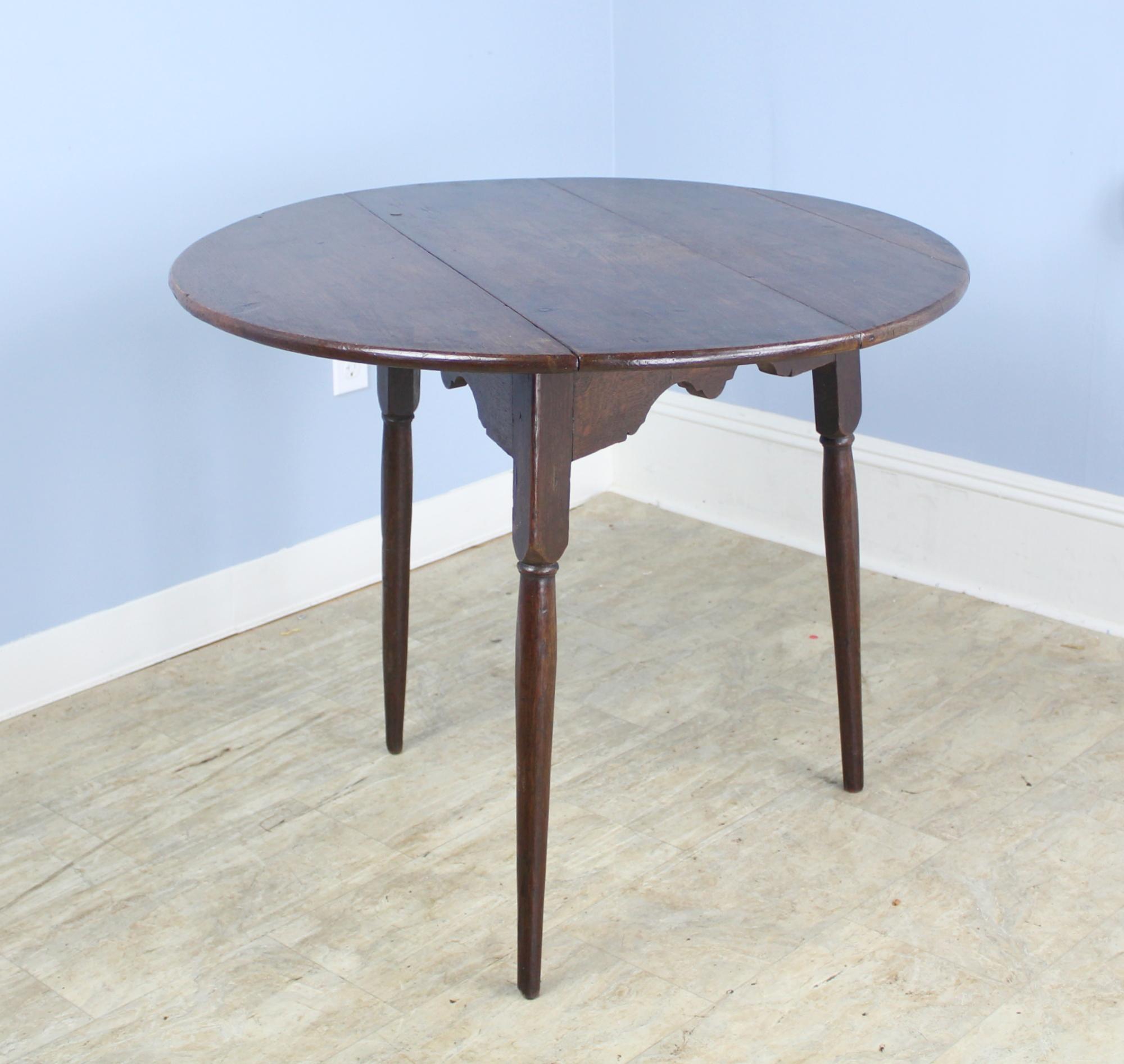 George III Oak Drop Leaf Cricket Table