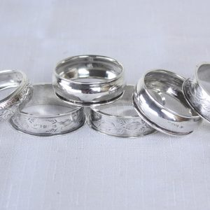 Collection of 6 Assorted English Hallmarked Napkin Rings