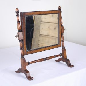 Antique English Oak Shaving Mirror