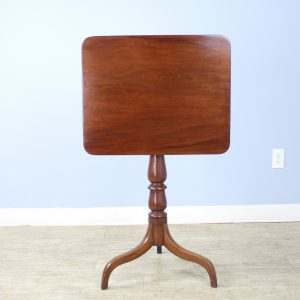 Early Georgian Mahogany Tilt Top Pedestal Table