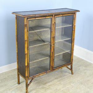 Small Antique Bamboo Bookcase
