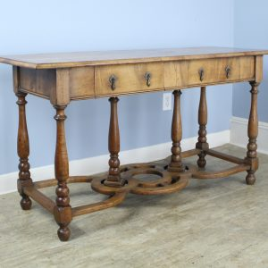 Antique Pale Walnut Console