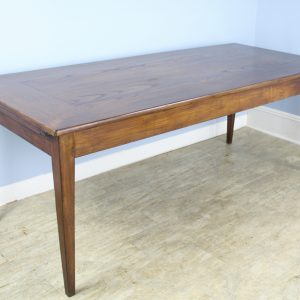 Antique Country Oak Farm Table with Breadslide