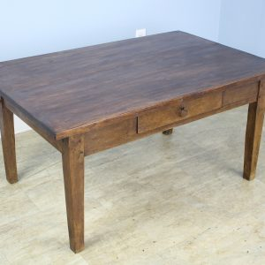 Antique Chestnut Coffee Table, One Drawer