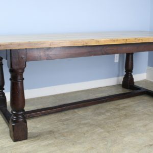 Antique Pine Dining Table with Refectory Base