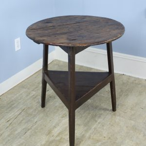 Antique Welsh Pine and Oak Cricket Table