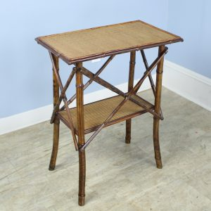 Antique Bamboo Side Table, Decorative Details
