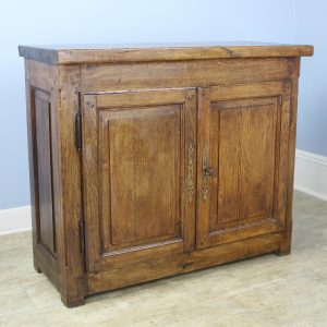 Antique Oak Chopping Block Top Buffet