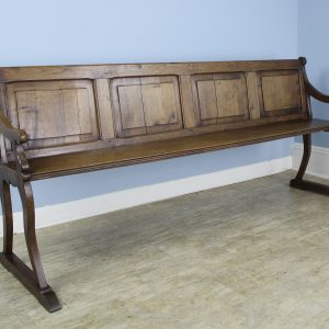 Long Antique French Chestnut Bench