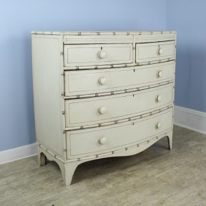 Painted Bowfront Chest of Drawers with Bamboo Mouldings