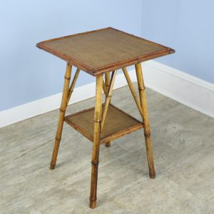 Antique English Bamboo Side Table