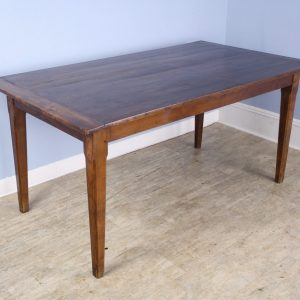 Country Antique Elm Farm Table, Breadboard Ends
