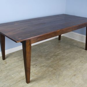 Classic 7 Ft. Pine Farm Table, Stained Walnut