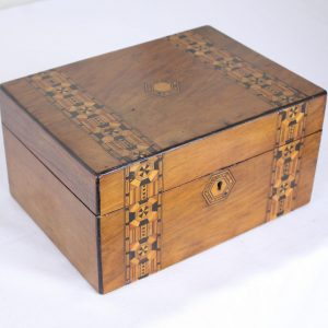 Inlaid Walnut Tumbridgeware Box
