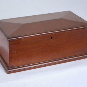 Antique Mahogany Jewelry Box with Shaped Top
