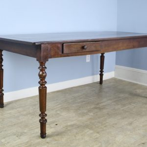 Cherry Louis Philippe Turned Leg Dining Table with Breadslide