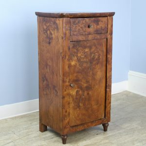 Antique Burr Elm Side Cabinet