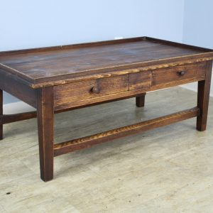 French Tray-Top Two Drawer Pine Coffee Table