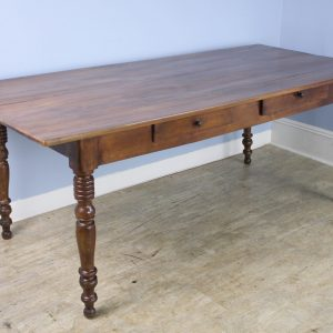 Louis Philippe Fruitwood Turned Leg Farm Table