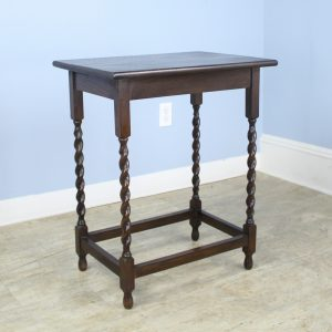 Antique Oak Barley Twist Side Table